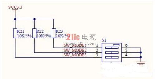 3位的拨码开关电路如图3.49所示.