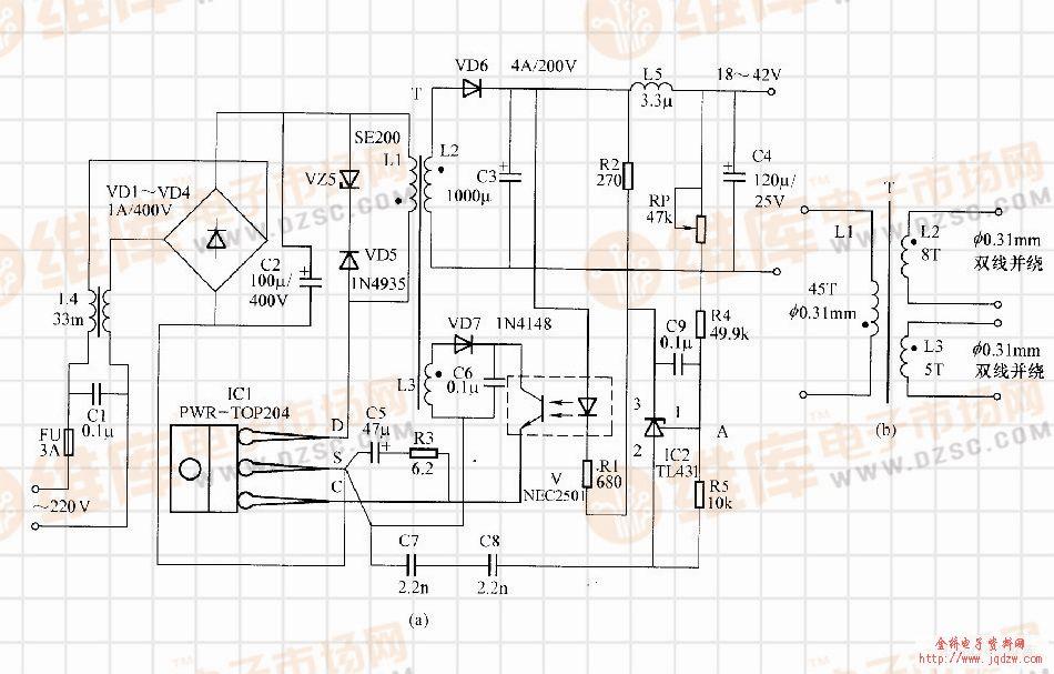 【图】top高精度的开关电源电路开关稳压电源