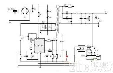 整流电路是把输入交流变为直流,通常开关电源中的整流电路是采用电容